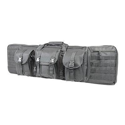 Double Carbine/Rifle/Shotgun Case By NcStar/Vism (Grey, 42)