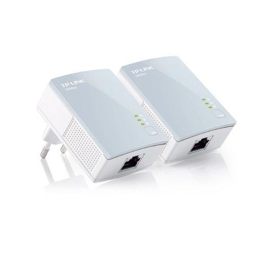 TP-LINK TL-PA411 KIT Starter Kit con 2 adattatori Powerline AV500, 1 porta Ethernet, fino a 500Mbps e 300 metri di copertura, Plug&Play