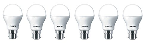 Philips 14W B22 6500k LED Bulb (Cool Day Light, Pack of 6)