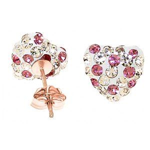 QP Jewellers Natural Cubic Zirconia Stud Earrings in 9ct Rose Gold, 2.65ct Round Cut - 4056R