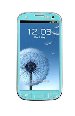 Samsung Galaxy S3 I9300 Aluminium Protective Sticker Skin Full Body Matte Anti Finger Anti Glare Screen Protector Guard Film For Luxury Looks Diamond Cutting Siii (Mint)