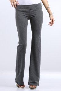 Cotton Lycra Rollover Waist Athletic Yoga Pants