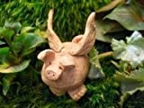Miniature Fairy Garden Flying Pig