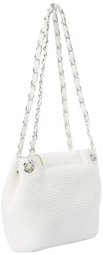 Magid Paper Straw Small Chain Tote,White,One Size