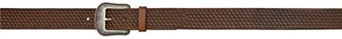 3D Belt Western Mens Leather Tooled Basketweave Antique 44 Brown 2314