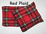 Wheat Warmer Microwavable Heat Cushion with Lavender, for Hands (Various) (Red Plaid)