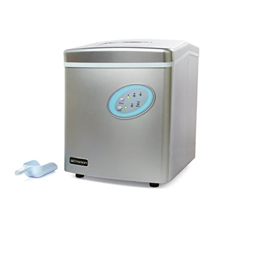 Emerson IM90 Portable Low Noise Highly Efficient Ice Maker - Stores up to 2.2lbs - Silver - (Certified Refurbished) (Refurbished Ice Maker compare prices)