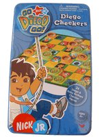 Diego The Rescuer Checkers w/ Tin box