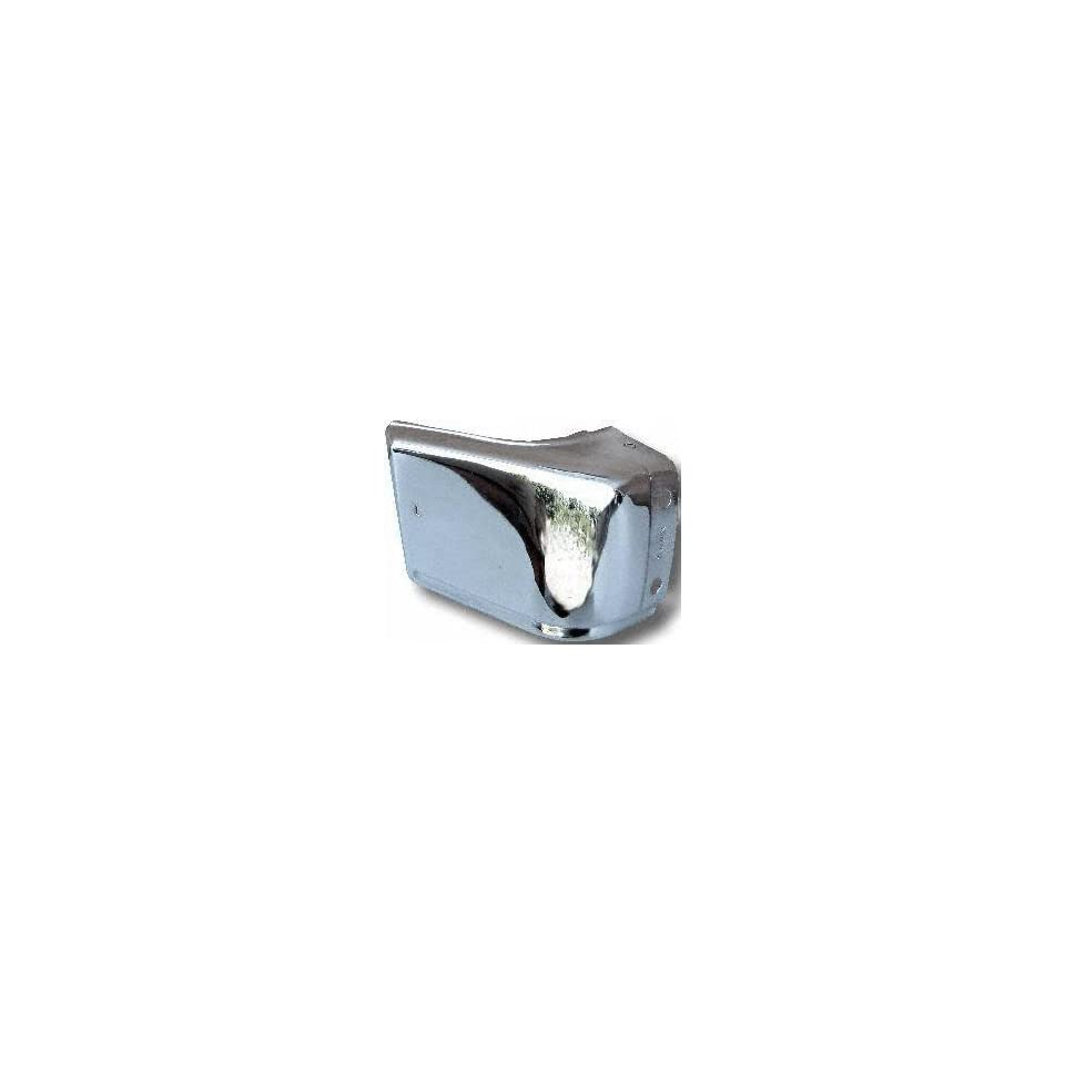 83 86 NISSAN PICKUP FRONT BUMPER END RH (PASSENGER SIDE) TRUCK, Chrome (1983 83 1984 84 1985 85 1986 86) 723 6203410W01