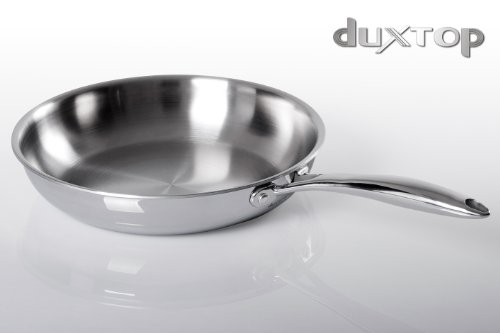 Duxtop Whole-Clad Tri-Ply Stainless Steel Induction Ready Premium Cookware Fry Pans 10-Inch