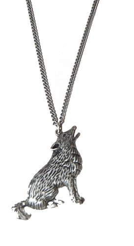 Vintage Style Antique Silver Wolf Long Necklace with Intricate Design Game of Thrones Stark(Supplied in a Gift Pouch) Unique Jewellery