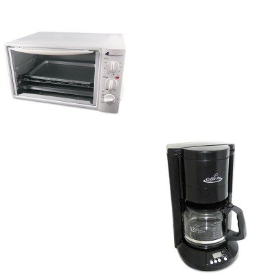 KITOGFCP333BOGFOG20 - Value Kit - Coffee Pro Multi-Function Toaster Oven with Multi-Use Pan (OGFOG20) and Coffee Pro Home/Office 12-Cup Coffee Maker (OGFCP333B) portable manual coffee maker handheld espresso coffee machine