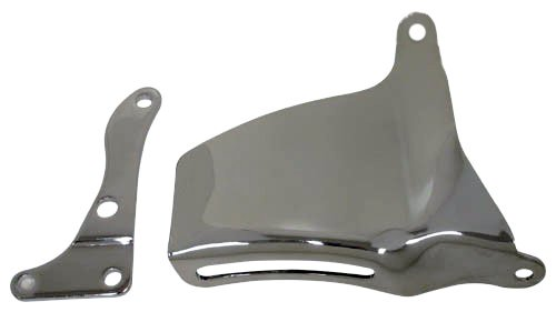 CHEVY SMALL BLOCK OEM STYLE WATER PUMP MOUNTED ALTERNATOR BRACKET SET (LWP) - CHROME (Chrome Alternators compare prices)