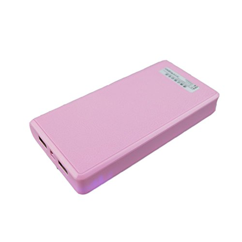 LQM 20000mAh Dual USB External Battery Backup Power Bank for Apple iPhone 6, 6 Plus 5S 5C 5 4S 4,iPad Air Mini 2, HTC One, One 2 (M8), Samsung Galaxy S6 Edge, S6 S5 S4 S3, Tab 4 3 2 Pro (pink) (Backup Battery Cell Phone compare prices)