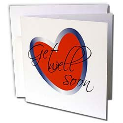 TNMGraphics Health - Get Well Soon Heart - Greeting