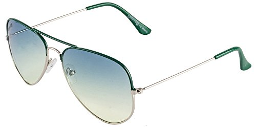 Funky Boys Aviator Sunglasses (Green) (SOC-FB4040-C20)