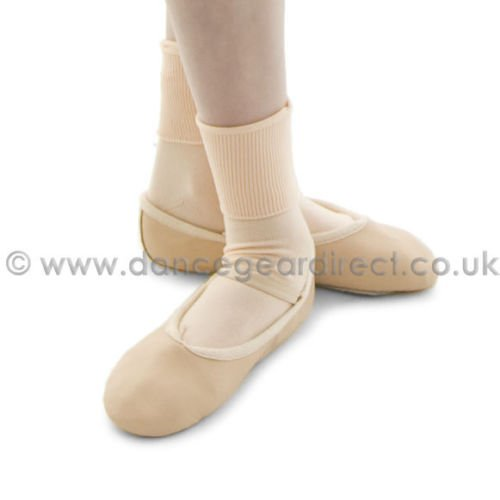 Dance Gear Ladies Ballet Dance Nylon Ankle Socks Great With Leather Ballet,Character,Jazz Shoes (BS)