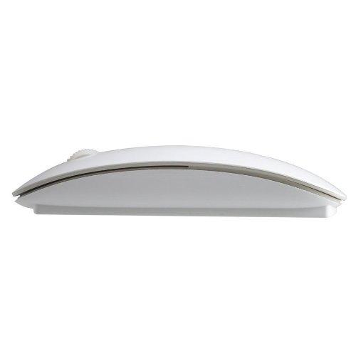 超薄い無線マウス ワイヤレスレーザー マウス Win Mac対応 小型 スリ...
