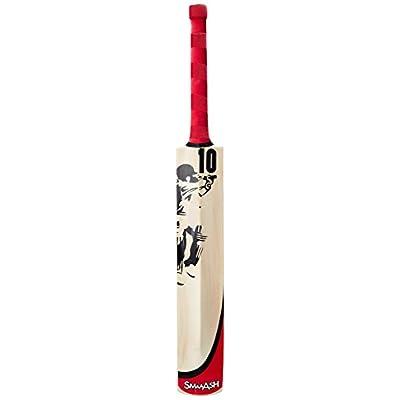 SS Smaash Red-Smaas Kashmir Willow Cricket Bat, Short Handle