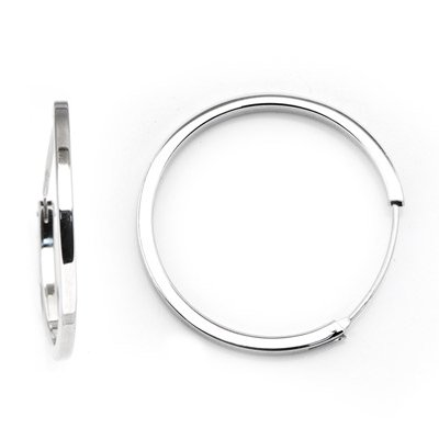 925 Silver Polish Finishing Hoop Earrings (30mm Diameter)