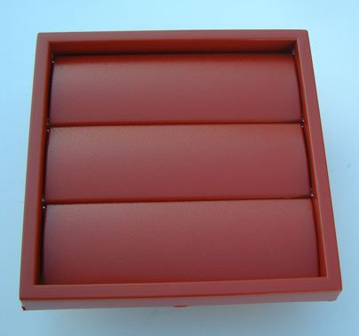 100mm extractor fan vent with gravity flaps Terracotta
