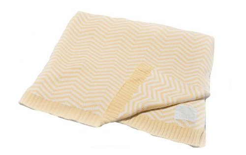 "Pickles Chevron Stripe Baby Blanket, Yellow, 30"" x 40"""