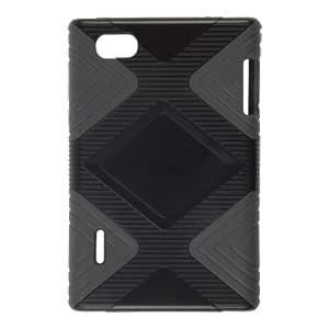 Amzer 95097 TPU Polycarbonate Case - Grey/ Black for LG Optimus VU P895, LG Optimus Vu F100L