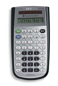 TEXAS INSTRUMENTS TI-36X Calculator,Scientific, Solar power* 10 english/metric conversions-10 english/metric conversions-