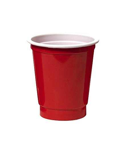 Party Essentials N24001 40 Count Party Cup Shot Glasses, 2-Ounce, Red front-257035