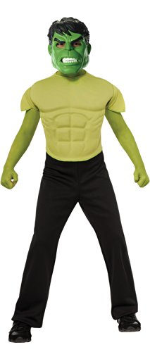 Marvel Avengers Assemble Incredible Hulk Muscle-Chest Costume Shirt with Mask
