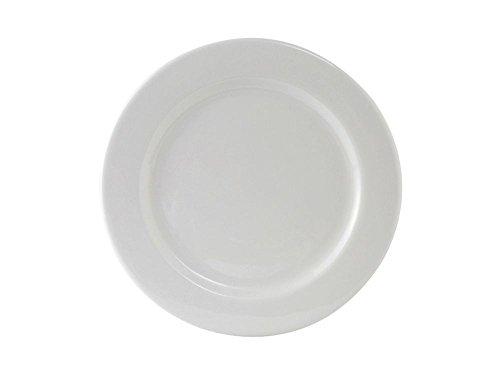 "Tuxton Ala-094 9.5"" Rolled Edge Wide Rim Alaska White Plate - 24 / Cs"