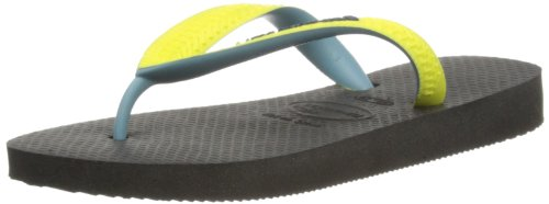 Havaianas Unisex-Child K Top Mix Thong Sandals 4115549.0522.334 Black/Yellow 2 UK, 36 EU