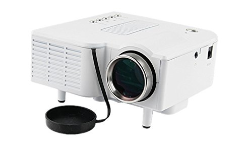 Easyjoy Native 320X240 Led Lcd 48 Lumen 3D Mini Projector Full Hd Multimedia For Game Tv Cinema Theater Tablet Video Movie Study (White)