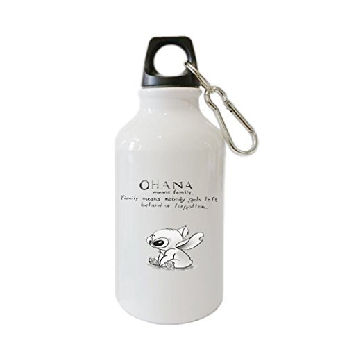 Lilo & Stitch Ohana Customizable Personalization Home Outdoor Bike Mug Aluminum Alloy 400ml Stainless Steel Sports Water Bottle