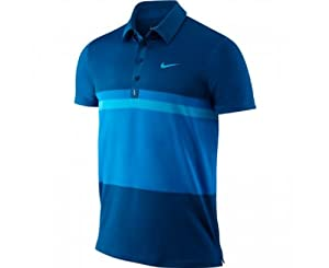 NIKE Federer Smash Polo pour Homme, Marine/Bleu, L