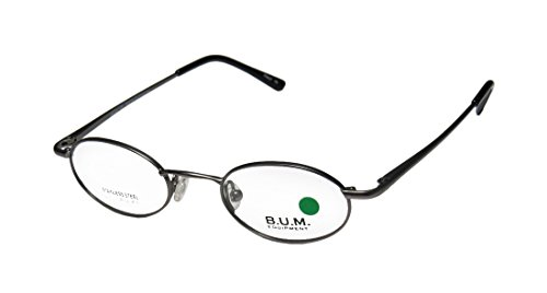 B.U.M. Equipment Groovin' Mens/Womens Designer Half-rim Flexible Hinges Eyeglasses/Eyewear (43-20-135, Gunmetal)