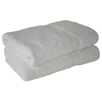 "Multiple Quantities - Cherry Hill Collection Luxury 550Gsm White Bath Sheet 34"" X 68"" - 12 Pieces"