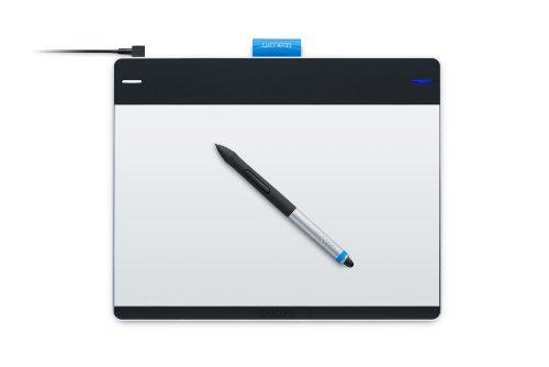 Wacom Intuos Pen&Touch M, FR & NL - Tableta gr�fica (FR & NL Intuos, Al�mbrico, USB, 216 x 135 mm, 0.5 mm, Mac OS X 10.6 Snow Leopard, Mac OS X 10.7 Lion, Mac OS X 10.8 Mountain Lion, 25h) Negro, Plata