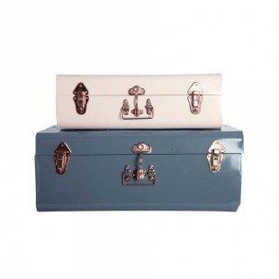 Large Metal Storage Box blue