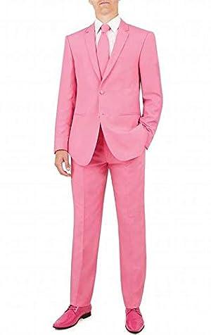 QZI メンズ2ボタン2枚セットジャケットとパンツのためのスーツ