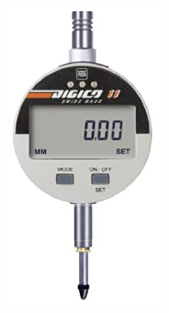 "Brown & Sharpe 599-1034 Digico 10 LCD Electronic Indicator, M2.5 Thread, 8mm Stem Dia., 0-1""/0-25mm Range, 0.00005""/0.001mm Graduation, +/-0.005mm Accuracy"