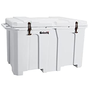 Grizzly Coolers 400 WHITE Hunting Fishing Camping 54.5 x 30.75 x 32 Cooler by Grizzly Coolers
