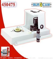 BurCam Basement Upflush Toilet Shower Stool Pump Bathroom Set