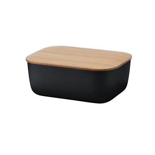 IT Box-Black Bamboo Butter Dish with Lid Rig-Tig by stelton by Rig-Tig by Stelton