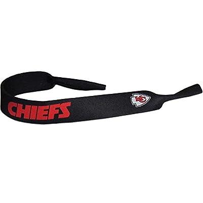 NFL Kansas City Chiefs Neoprene Sunglass Strap, Black