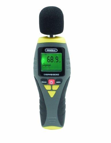 General Tools & Instruments DSM8930 Digital Sound Level Meter, 100 Hz to 8.3 KHz