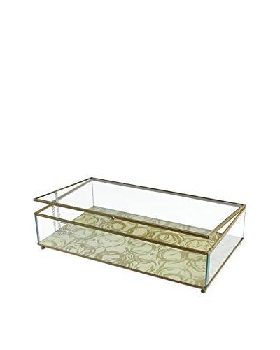 Jay Imports Circles Glass Display Box, Gold