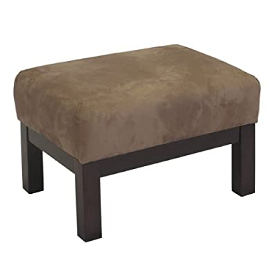 Contemporary Milano Espresso and Mocha Ottoman