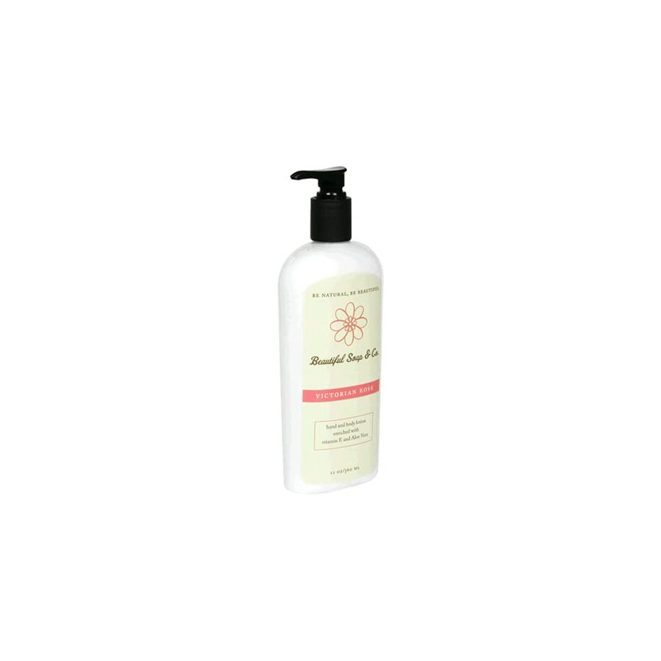 Beautiful Soap & Co. Hand & Body Lotion, Victorian Rose, 12 oz (360 ml) (Pack of 2)