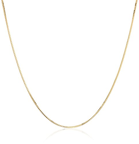 14k Yellow Gold Box-Chain Necklace (.45mm), 18""